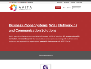 avitacommunications.com screenshot
