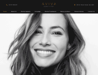 avivacosmeticdentistry.co.uk screenshot