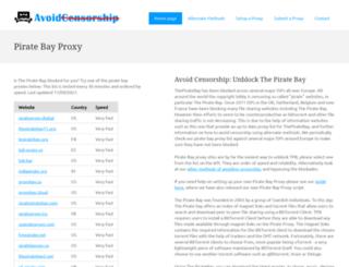 Pirate bay proxy list