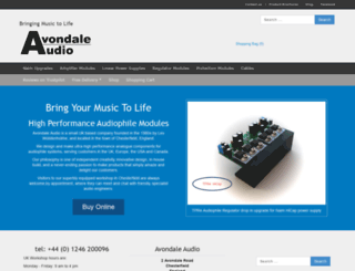 avondaleaudio.com screenshot