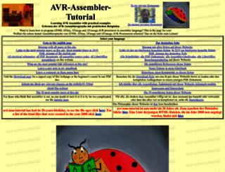 avr-asm-tutorial.net screenshot