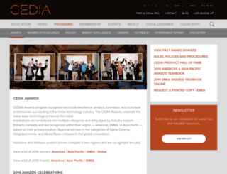 awards.cedia.co.uk screenshot
