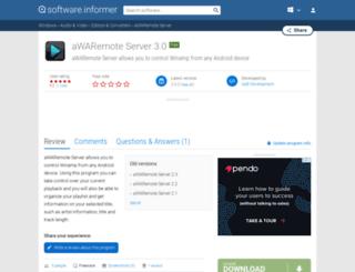 awaremote-server.software.informer.com screenshot