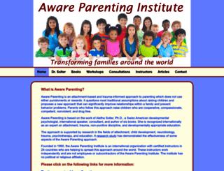 awareparenting.com screenshot