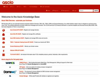 aws.ascio.info screenshot