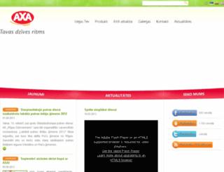 axaclub.lv screenshot