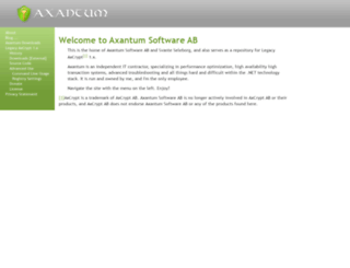 axantum.com screenshot