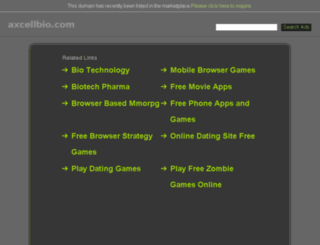 axcellbio.com screenshot