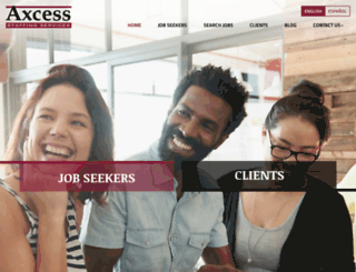 axcessstaffing.com screenshot