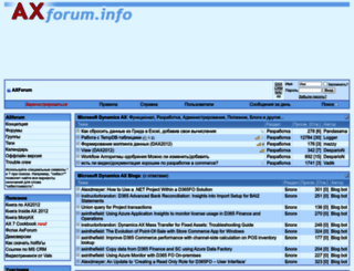 axforum.info screenshot
