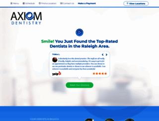 axiomdentistry.com screenshot