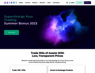 axiory.com screenshot