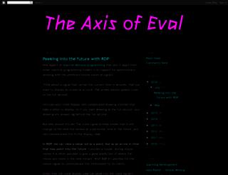 axisofeval.blogspot.com screenshot