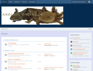 axolotlforum.de screenshot
