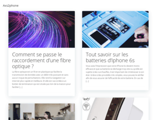 axs2phone.fr screenshot