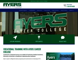 ayers.edu screenshot