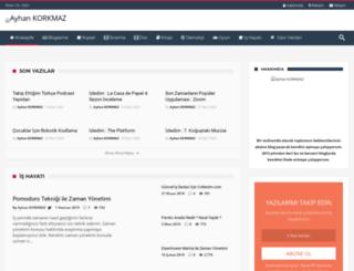 ayhankorkmaz.net screenshot