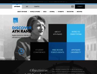 aynrand.org screenshot