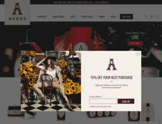 ayresbeauty.com screenshot