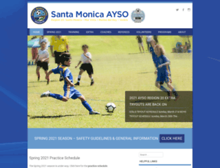 ayso20.org screenshot