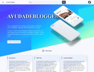 ayudadeblogger.com screenshot