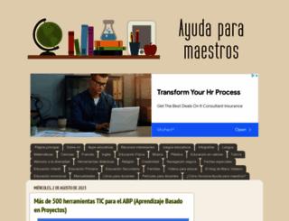ayudaparamaestros.com screenshot