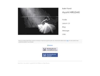ayumihirusaki.com screenshot