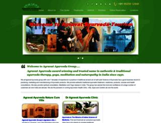 ayurveda.agravat.com screenshot