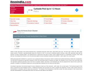 ayurveda.iloveindia.com screenshot