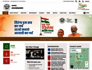 azamgarh.nic.in screenshot