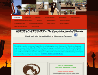 azhorseloverspark.org screenshot