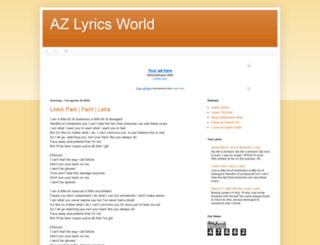 azlyricsworld.blogspot.com.br screenshot