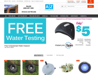 azpoolsupplies.com screenshot