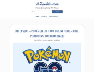 azpublic.com screenshot