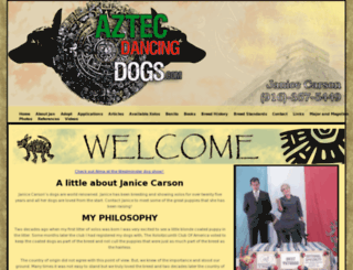 aztecdancingdogs.com screenshot