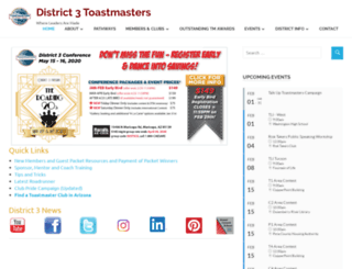 aztoastmasters.com screenshot
