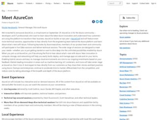 azurecon.com screenshot