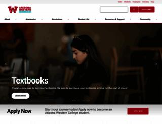 azwestern.edu screenshot