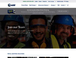 azzincorporated.com screenshot