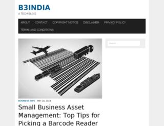 b3india.in screenshot