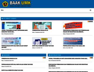 baak.umk.ac.id screenshot