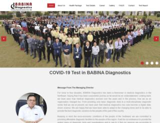 babinadiagnostics.com screenshot
