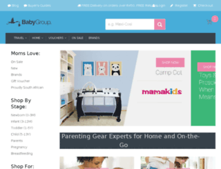 babygroup.co.za screenshot