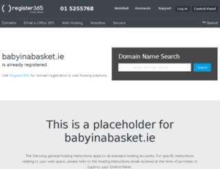 babyinabasket.ie screenshot