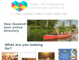 babylifemagazine.co.nz screenshot