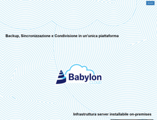 babyloncloud.it screenshot
