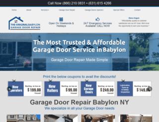 babylongaragedoorrepair.com screenshot