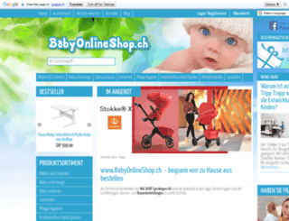 babyonlineshop.ch screenshot