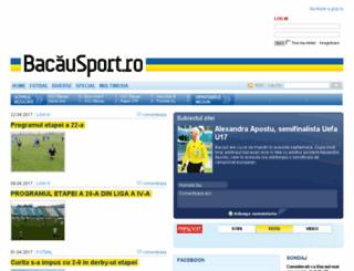 bacausport.gsp.ro screenshot