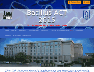 bacillusact2015.org screenshot